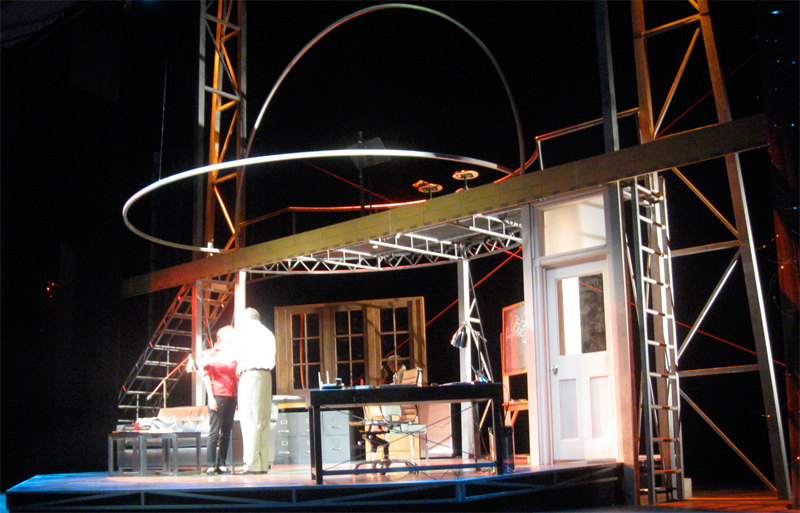 Scenic Design by Robin Sanford Roberts for Splitting Infinity