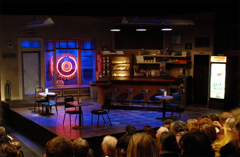 Production of Superior Donuts at the San Diego Repertory Theatre